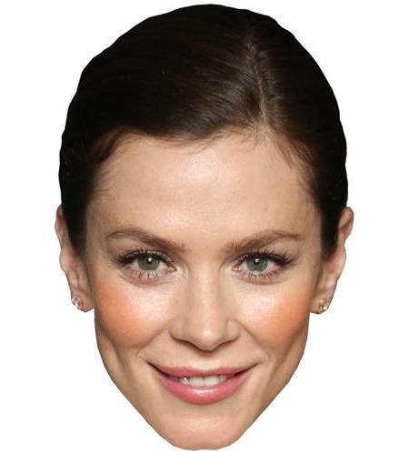 A Cardboard Celebrity Mask of Anna Friel