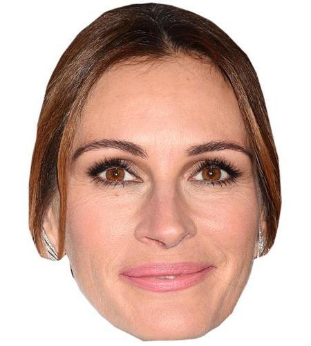A Cardboard Celebrity Big Head of Julia Roberts