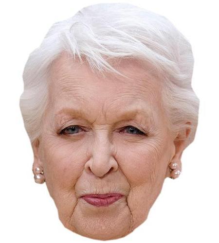 A Cardboard Celebrity Big Head of June Whitfield