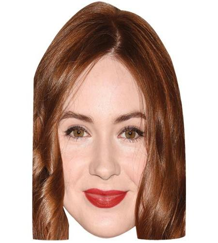 A Cardboard Celebrity Big Head of Karen Gillan