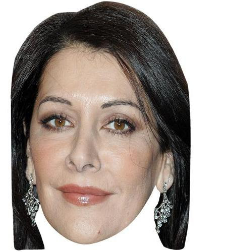 A Cardboard Celebrity Mask of Marina Sirtis