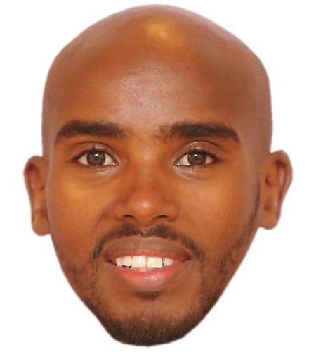 A Cardboard Celebrity Big Head of Mo Farah