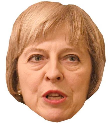 A Cardboard Celebrity Big Head of Theresa May