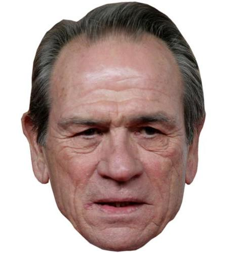 A Cardboard Celebrity Big Head of Tommy Lee Jones