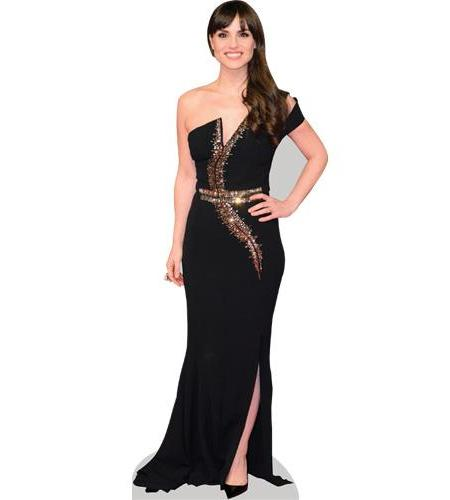 A Lifesize Cardboard Cutout of Charlotte Riley wearing a gown