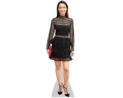 A Lifesize Cardboard Cutout of Lucy Liu (Black Skirt) wearing a black skirt