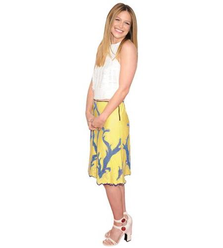 A Lifesize Cardboard Cutout of Melissa Benoist wearing a skirt