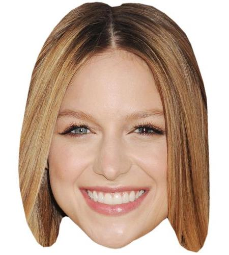 A Cardboard Celebrity Big Head of Melissa Benoist