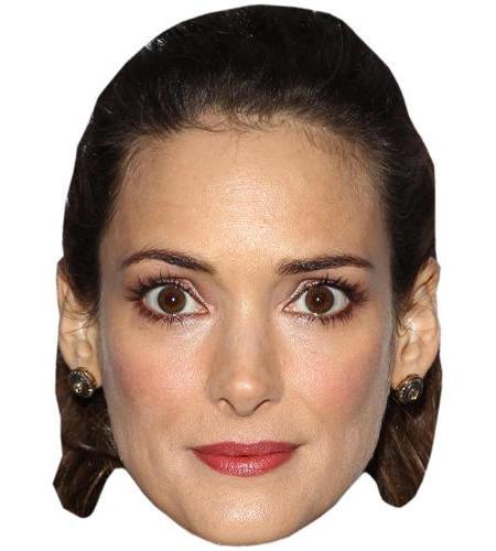 A Cardboard Celebrity Big Head of Winona Ryder