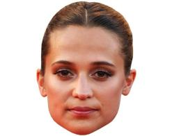 A Cardboard Celebrity Mask of Alicia Vikander