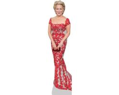 A Lifesize Cardboard Cutout of Bette Midler wearing red