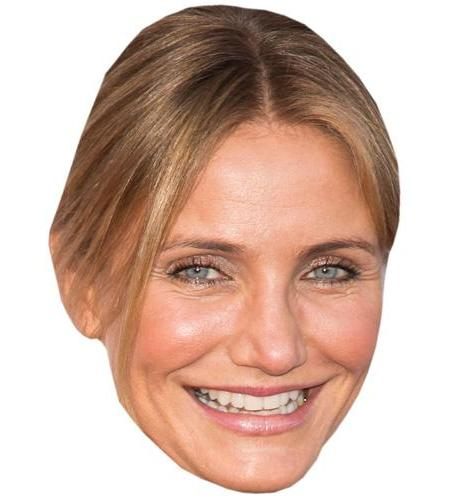 A Cardboard Celebrity Mask of Cameron Diaz