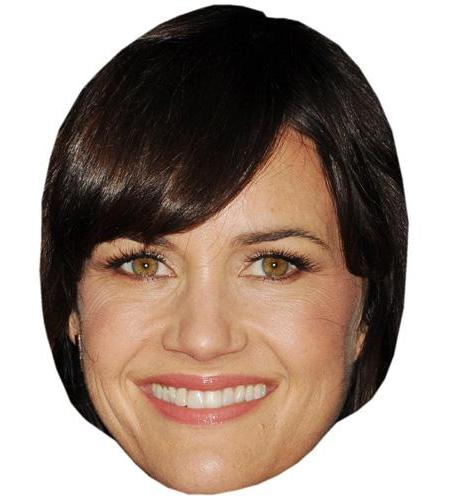 A Cardboard Celebrity Mask of Carla Gugino