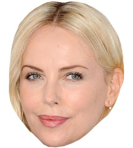 A Cardboard Celebrity Big Head of Charlize Theron