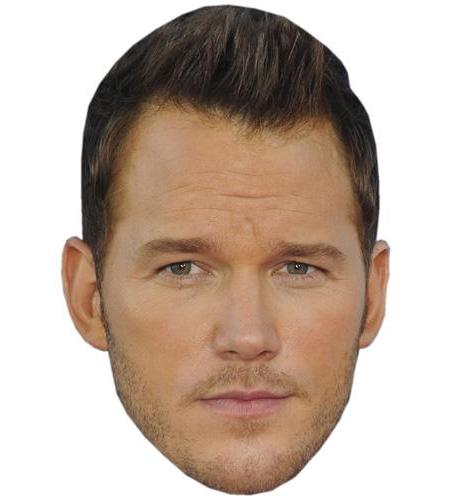 A Cardboard Celebrity Big Head of Chris Pratt