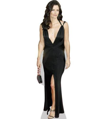 A Lifesize Cardboard Cutout of Courtney Cox wearing black