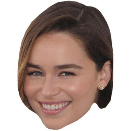 A Cardboard Celebrity Big Head of Emilia Clarke