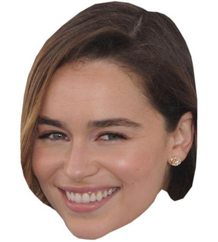 A Cardboard Celebrity Big Head of Emilia Clarke