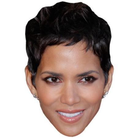 A Cardboard Celebrity Big Head of Halle Berry
