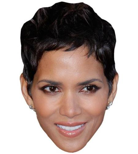 A Cardboard Celebrity Big Head of Halle Berry
