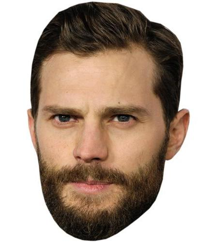 A Cardboard Celebrity Big Head of Jamie Dornan