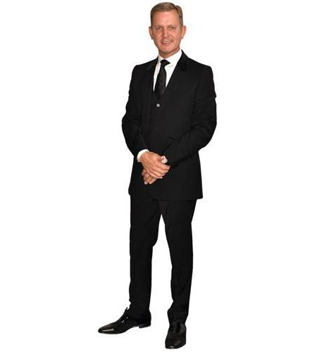 A Lifesize Cardboard Cutout of Jeremy Kyle wearing suit