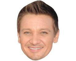 A Cardboard Celebrity Mask of Jeremy Renner