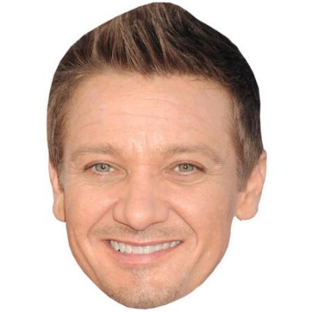 A Cardboard Celebrity Big Head of Jeremy Renner