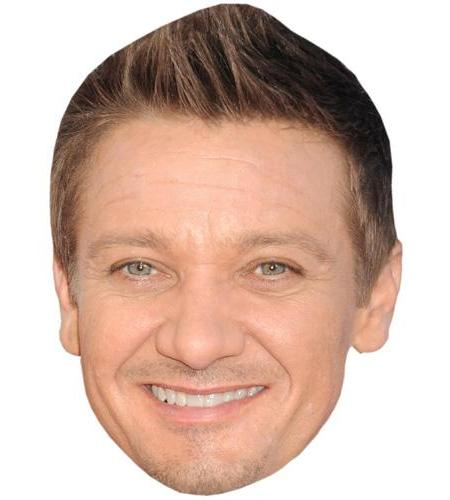 A Cardboard Celebrity Big Head of Jeremy Renner