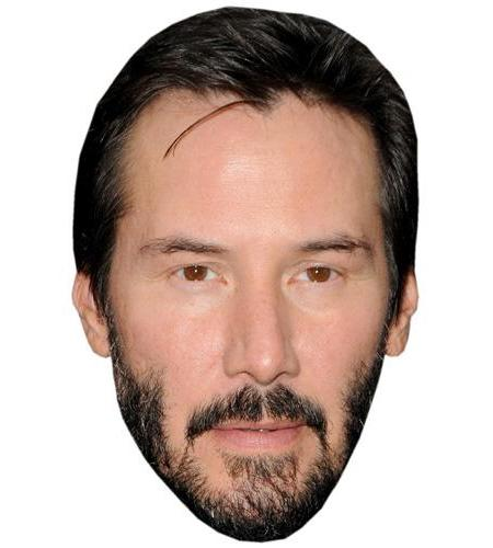A Cardboard Celebrity Big Head of Keanu Reeves