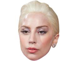 A Cardboard Celebrity Mask of Lady Gaga