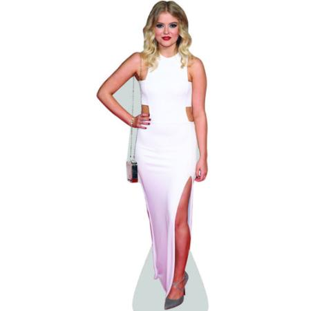 A Lifesize Cardboard Cutout of Lucy Fallon wearing a gown