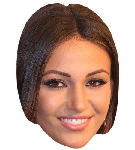 A Cardboard Celebrity Mask of Michelle Keegan