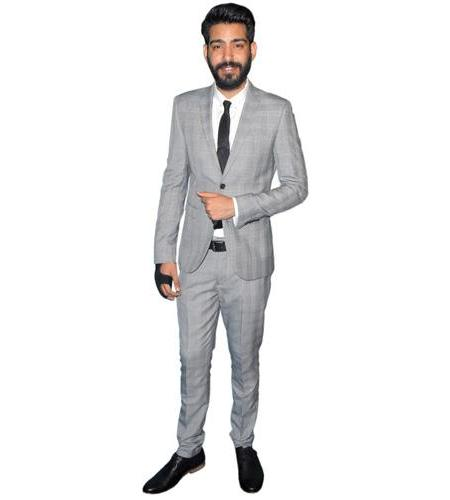 A Lifesize Cardboard Cutout of Rahul Kohli wearing a suit
