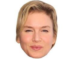 A Cardboard Celebrity Mask of Renee Zellweger
