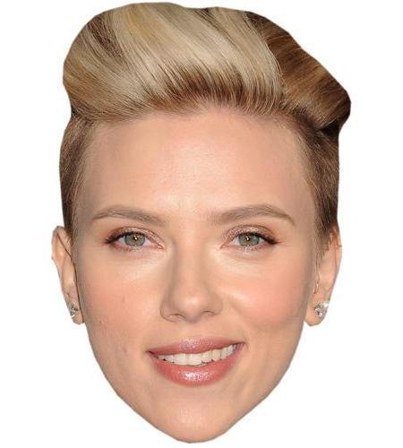 A Cardboard Celebrity Mask of Scarlett Johansson