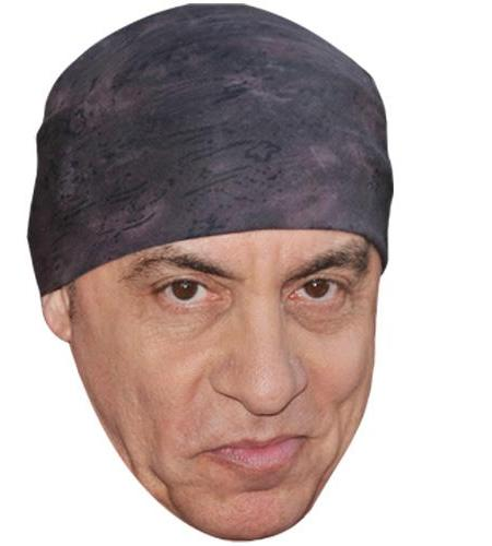A Cardboard Celebrity Mask of Steve van Zandt