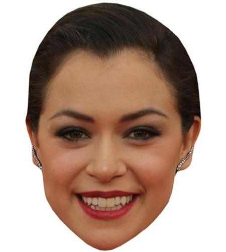 A Cardboard Celebrity Mask of Tatiana Maslany
