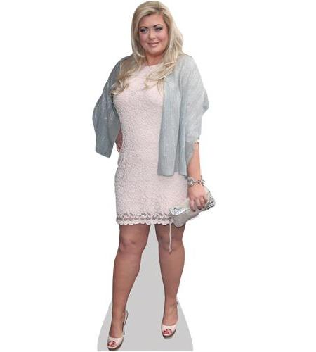 A Lifesize Cardboard Cutout of Gemma Collins (White Dress)
