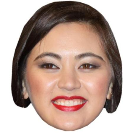 A Cardboard Celebrity Big Head of Jessica Henwick
