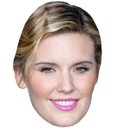 A Cardboard Celebrity Big Head of Maggie Grace