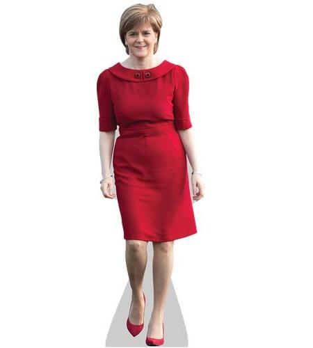 A Lifesize Cardboard Cutout of Nicola Sturgeon