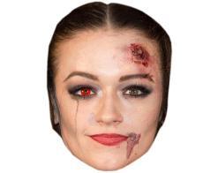 A Cardboard Celebrity Mask of Emily Middlemas (Zombie)