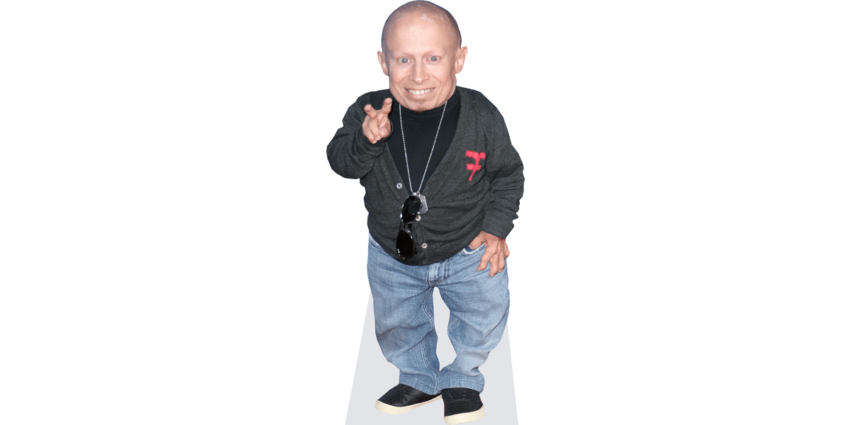 Cardboard Cutout Standee. Casual mini size Verne Troyer