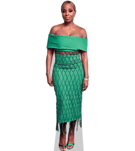 Mary J. Blige (Green Dress)