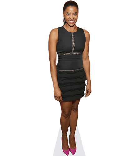 Rene Elise Goldsberry (Black Dress)