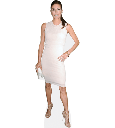 Paige Turco (Beige Dress)