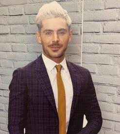 Zac Efron (Yellow Tie)