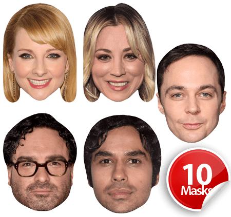 The Big Bang Theory Mask Pack