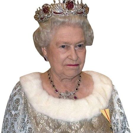 HRH The Queen (Silver) Cardboard Buddy Cutout